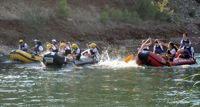 Raftingciler 6 ay sonra suya indi